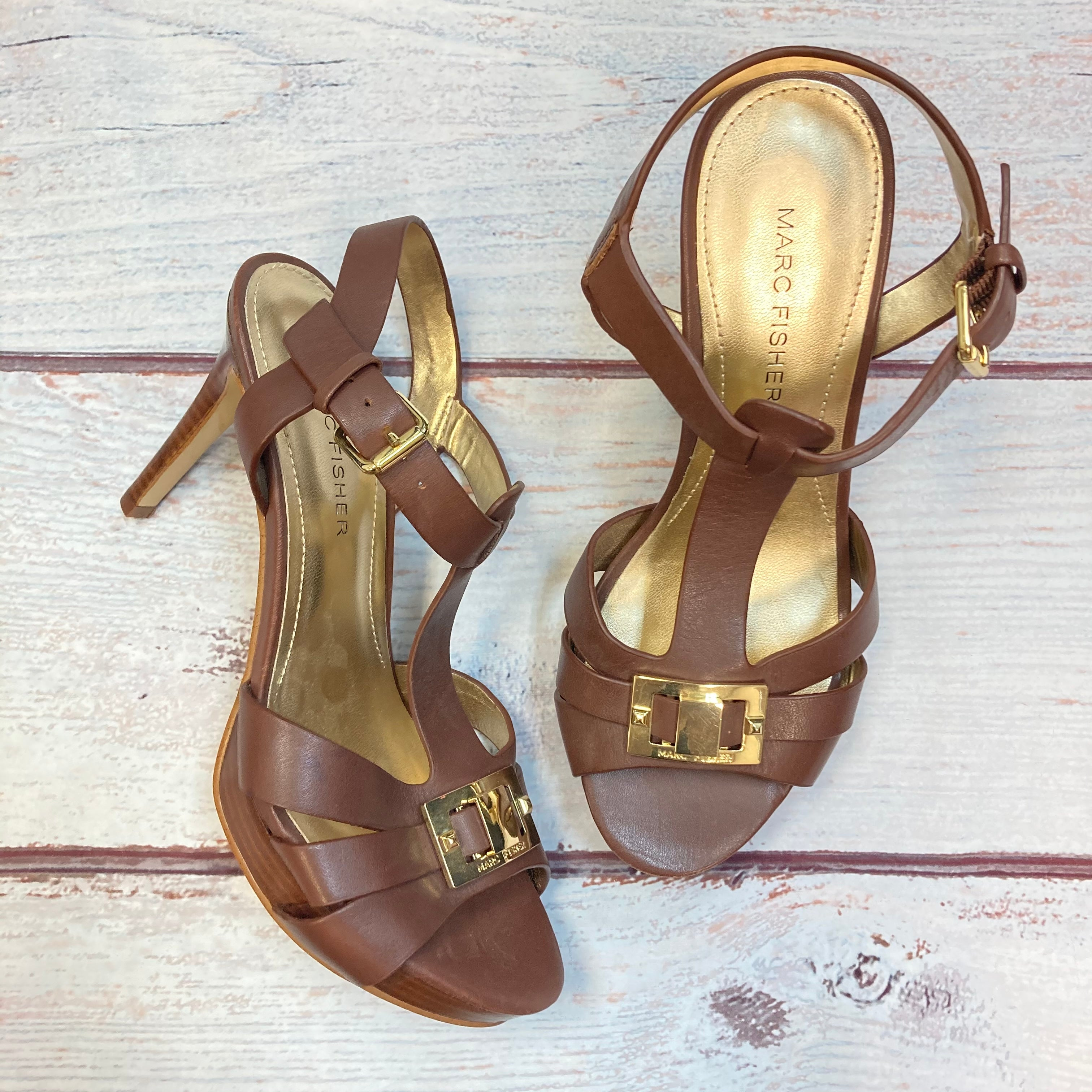 Primary Photo - BRAND: MARC FISHER <BR>STYLE: SANDALS HIGH <BR>COLOR: BROWN <BR>SIZE: 6 <BR>SKU: 178-178102-63030
