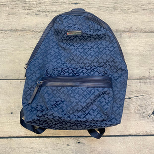 Primary Photo - BRAND: TOMMY HILFIGER STYLE: BACKPACK COLOR: MONOGRAM SIZE: LARGE OTHER INFO: CANVAS-BLUE/NAVY SKU: 178-178203-2414