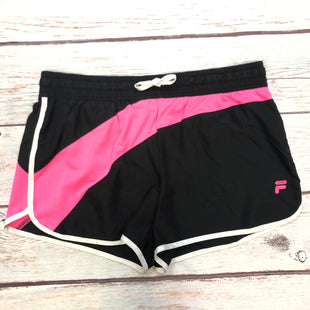 Primary Photo - BRAND: FILA STYLE: ATHLETIC SHORTS COLOR: BLACK SIZE: L OTHER INFO: PINK/WHITE TRIMS SKU: 178-178102-62125