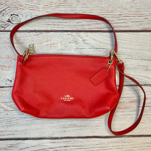 Primary Photo - BRAND: COACH STYLE: HANDBAG DESIGNER COLOR: RED SIZE: SMALL OTHER INFO: PEBBLE LEATHER XBODY-NEW! SKU: 178-178102-59043