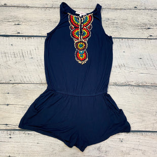 Primary Photo - BRAND: NANETTE LEPORE STYLE: DRESS SHORT SLEEVELESS COLOR: NAVY SIZE: M OTHER INFO: ROMPER/RAINBOW BEADED ROMPER SKU: 178-178212-4997