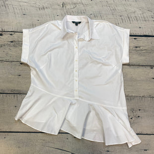 Primary Photo - BRAND: LAUREN BY RALPH LAUREN STYLE: BLOUSE SHORT SLEEVE COLOR: WHITE SIZE: 1X SKU: 178-178102-53697