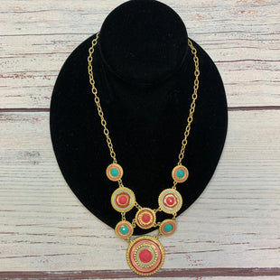 Primary Photo - BRAND:   STYLE: NECKLACE COLOR: GOLD OTHER INFO: CORAL/PINK/TEAL TRIMS SKU: 178-178102-64039