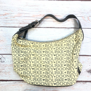 Primary Photo - BRAND: DOONEY AND BOURKE STYLE: HANDBAG DESIGNER COLOR: MONOGRAM SIZE: LARGE OTHER INFO: YELLOW/BLACK-SLIGHT STAINS SKU: 178-178102-61354