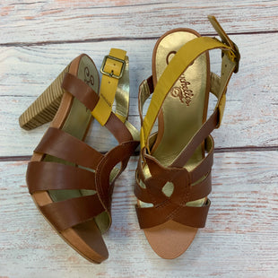 Primary Photo - BRAND: SEYCHELLES STYLE: SANDALS HIGH COLOR: MULTI SIZE: 9 OTHER INFO: CHOCOLATE/TAN/YELLOW SKU: 178-178102-64281