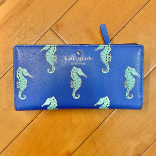 Primary Photo - BRAND: KATE SPADE STYLE: WALLET COLOR: BLUE SIZE: SMALL OTHER INFO: NEW W/ TAG SEAHORSES SKU: 178-178214-854