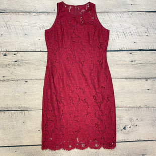Primary Photo - BRAND: WHITE HOUSE BLACK MARKET STYLE: DRESS LONG SLEEVELESS COLOR: BURGUNDY SIZE: L OTHER INFO: LACE OVERLAY SKU: 178-178102-63114