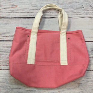 Primary Photo - BRAND: J CREW STYLE: HANDBAG COLOR: PINK SIZE: MEDIUM OTHER INFO: WHITE TRIMED CANVAS TOTE SKU: 178-178102-57622
