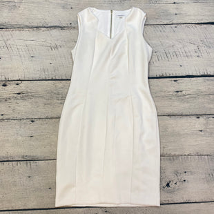 Primary Photo - BRAND: CALVIN KLEIN STYLE: DRESS SHORT SLEEVELESS COLOR: WHITE SIZE: L OTHER INFO: SZ 12 SKU: 178-178212-4570