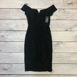 Primary Photo - BRAND: GUESS STYLE: DRESS SHORT SLEEVELESS COLOR: BLACK SIZE: XS OTHER INFO: NEW! SZ 2 LACEY DETAIL BODYCON SKU: 178-178212-5450