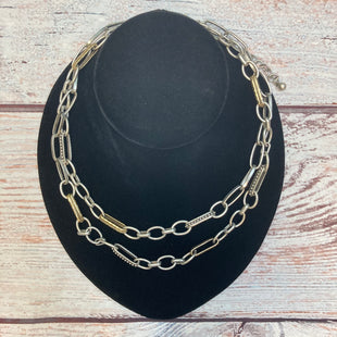 Primary Photo - BRAND: CHICOS STYLE: NECKLACE COLOR: SILVER OTHER INFO: GOLD TRIMS SKU: 178-178102-61641