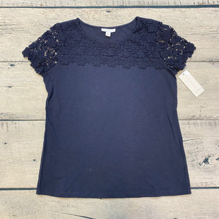 Primary Photo - BRAND: CHARTER CLUB STYLE: TOP SHORT SLEEVE BASIC COLOR: NAVY SIZE: PETITE  MEDIUM OTHER INFO: NEW! LACE TOP SKU: 178-178212-3232
