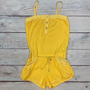 Primary Photo - BRAND: JUICY COUTURE STYLE: DRESS SHORT SLEEVELESS COLOR: YELLOW SIZE: M OTHER INFO: ROMPER-TERRY CLOTH SKU: 178-178102-62352