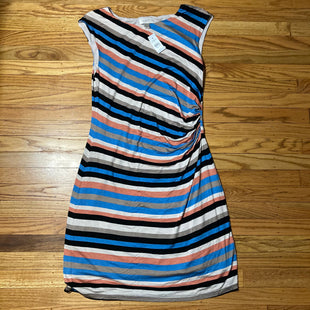 Primary Photo - BRAND: ANN TAYLOR O STYLE: DRESS SHORT SLEEVELESS COLOR: STRIPED SIZE: M OTHER INFO: NEW! BLACK/CORAL/BLUE/CREAM/TAN SKU: 178-178102-52991