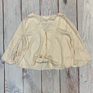 Primary Photo - BRAND: LAUREN CONRAD STYLE: TOP LONG SLEEVE COLOR: CREAM SIZE: S OTHER INFO: GOLD STRIPE SKU: 178-17853-354