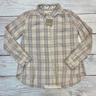 Primary Photo - BRAND:    ISABELLA SINCLAIR STYLE: BLOUSE COLOR: PLAID SIZE: XXS OTHER INFO: ISABELLA SINDAIR - NEW! PURPLE/CREAM SKU: 178-178212-3337