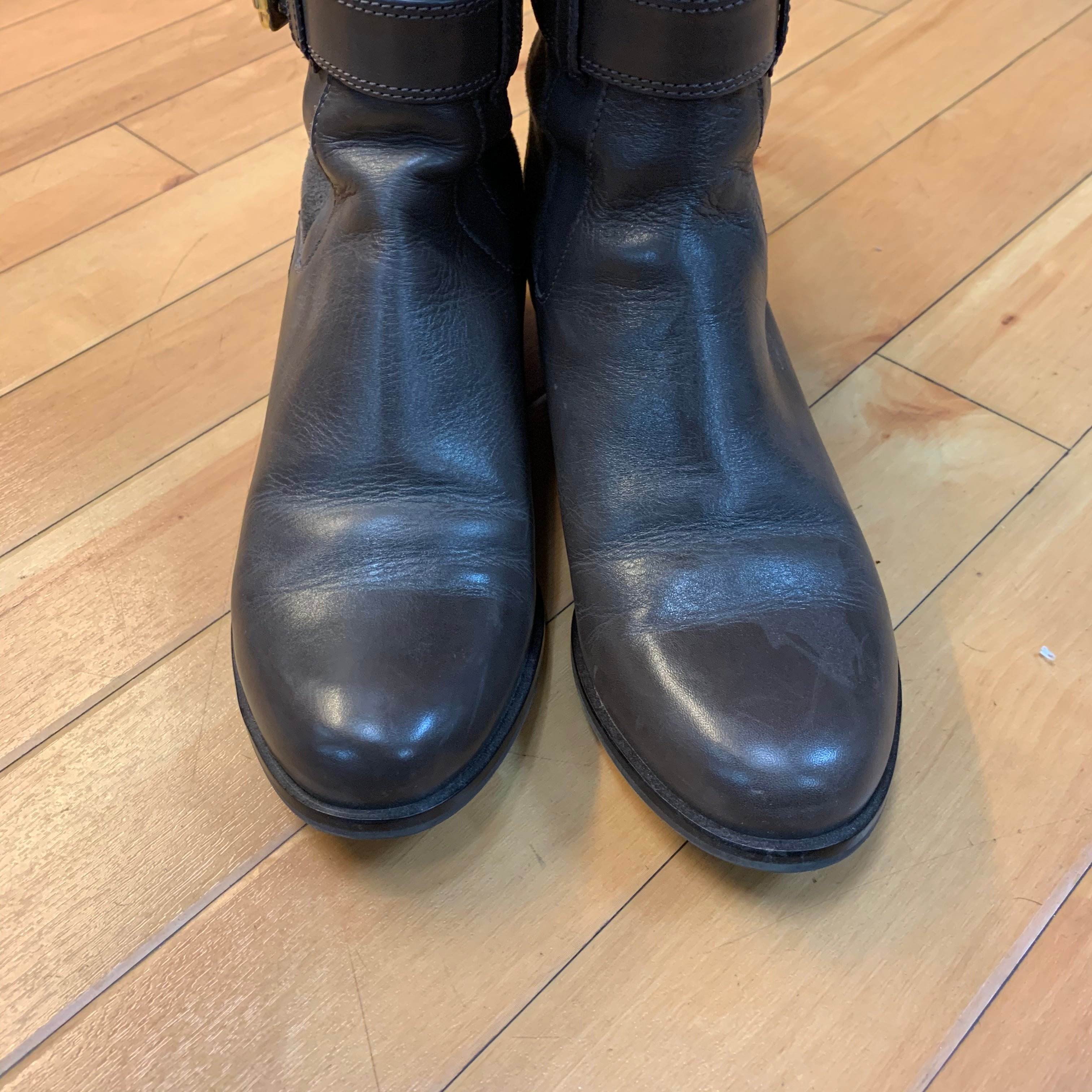 Photo #2 - BRAND: COLE-HAAN <BR>STYLE: BOOTS DESIGNER <BR>COLOR: BROWN <BR>SIZE: 8 <BR>OTHER INFO: NEW IN BOX/ GOLD BUCKLES <BR>SKU: 178-178214-813
