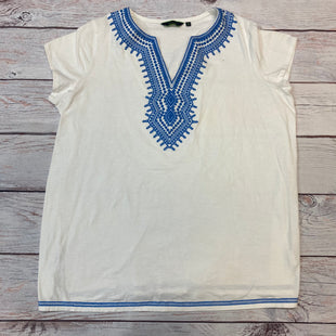 Primary Photo - BRAND: C WONDER STYLE: TOP SHORT SLEEVE COLOR: BLUE WHITE SIZE: 2X OTHER INFO: EMBROIDERED TRIMS SKU: 178-17817-26831