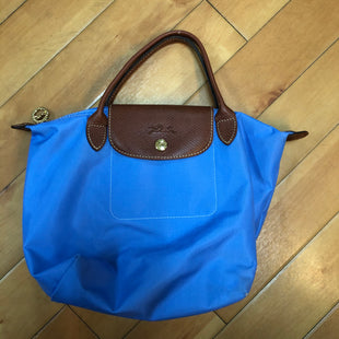 Primary Photo - BRAND: LONGCHAMP STYLE: HANDBAG DESIGNER COLOR: LIGHT BLUE SIZE: SMALL OTHER INFO: MINI LE PLIAGE-CORNER WEAR SKU: 178-178102-58975