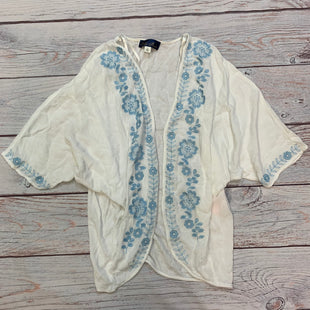 Primary Photo - BRAND: BLUE RAIN STYLE: COVERUP COLOR: WHITE SIZE: S OTHER INFO: BLUE FLORAL TRIM SKU: 178-17853-348