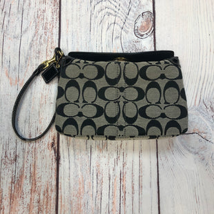 Primary Photo - BRAND: COACH STYLE: WRISTLET COLOR: MONOGRAM OTHER INFO: GREY/BLACK SKU: 178-178102-60763