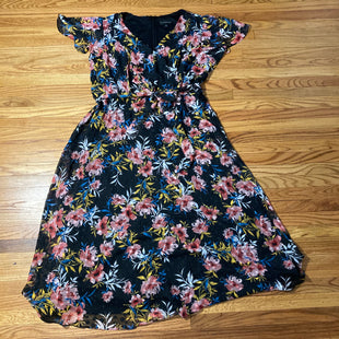 Primary Photo - BRAND: LANE BRYANT STYLE: DRESS LONG SHORT SLEEVE COLOR: BLACK SIZE: 3X OTHER INFO: PINK FLOWERS SKU: 178-178199-1096
