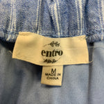 Photo #2 - BRAND: ENTRO <BR>STYLE: DRESS SHORT SLEEVELESS <BR>COLOR: STRIPED <BR>SIZE: M <BR>OTHER INFO: BLUE/WHITE <BR>SKU: 178-178203-4390
