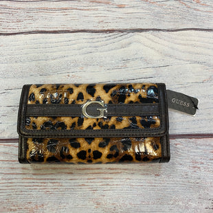 Primary Photo - BRAND: GUESS STYLE: WALLET COLOR: ANIMAL PRINT SIZE: LARGE OTHER INFO: NEW SKU: 178-17853-406