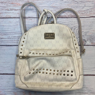 Primary Photo - BRAND: BEBE STYLE: BACKPACK COLOR: CREAM SIZE: MEDIUM OTHER INFO: NEW! MONOGRAM/GOLD STUDS SKU: 178-178102-55261