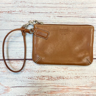 Primary Photo - BRAND: COACH STYLE: WRISTLET COLOR: CAMEL OTHER INFO: GENUINE LEATHER SKU: 178-178102-62190