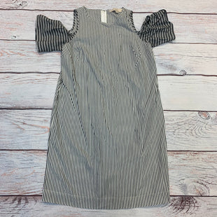 Primary Photo - BRAND: ANN TAYLOR LOFT STYLE: DRESS SHORT SHORT SLEEVE COLOR: STRIPED SIZE: XS OTHER INFO: GREY/WHITE SKU: 178-178203-4378