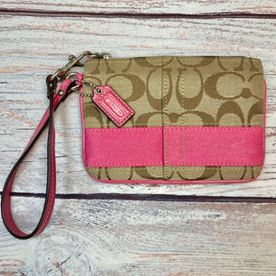 Primary Photo - BRAND: COACH STYLE: WRISTLET COLOR: MONOGRAM OTHER INFO: PINK STRIPE SKU: 178-178203-3028