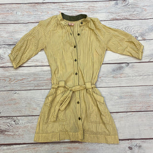Primary Photo - BRAND: FREE PEOPLE STYLE: DRESS SHORT LONG SLEEVE COLOR: STRIPED SIZE: S OTHER INFO: YELLOW/SAGE/RED SKU: 178-178102-61867