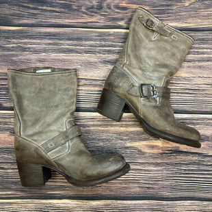 Primary Photo - BRAND: FRYE STYLE: BOOTS ANKLE COLOR: BROWN SIZE: 6.5 OTHER INFO: SLIGHT STAINING AND SCRATCHING- MID CALF SKU: 178-17883-15364