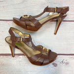 Photo #1 - BRAND: MARC FISHER <BR>STYLE: SANDALS HIGH <BR>COLOR: BROWN <BR>SIZE: 6 <BR>SKU: 178-178102-63030