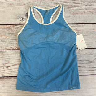Primary Photo - BRAND: NIKE STYLE: ATHLETIC TANK TOP COLOR: BLUE SIZE: M OTHER INFO: WHITE TRIM FITDRY SKU: 178-178212-4143
