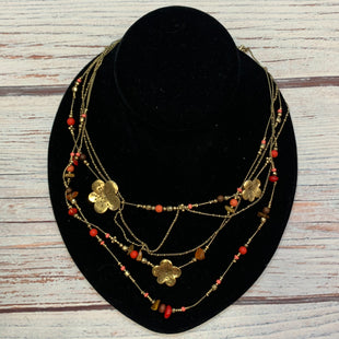 Primary Photo - BRAND: BOHMSTYLE: NECKLACE COLOR: GOLD OTHER INFO: MULTI-LAYERED PEACH/RED BEADS SKU: 178-178212-6276