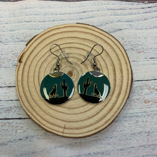Primary Photo - BRAND:   STYLE: EARRINGS COLOR: TEAL OTHER INFO: BLACK CACTUS/WOLF SKU: 178-178212-6218