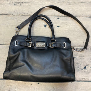 Primary Photo - BRAND: MICHAEL BY MICHAEL KORS STYLE: HANDBAG DESIGNER COLOR: BLACK SIZE: LARGE OTHER INFO: SILVER TRIMS-LEATHER SKU: 178-178102-58354