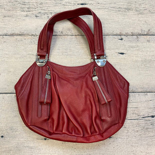 Primary Photo - BRAND: B MAKOWSKY STYLE: HANDBAG DESIGNER COLOR: MAROON SIZE: MEDIUM OTHER INFO: SATCHEL W/ SILVER TRIMS SKU: 178-178102-59167