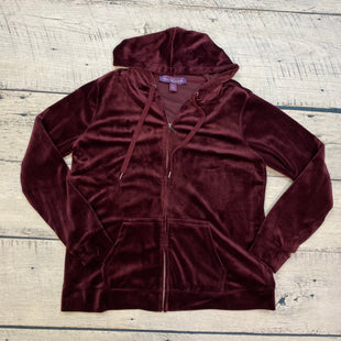 Primary Photo - BRAND: GLORIA VANDERBILT STYLE: ATHLETIC JACKET COLOR: MAROON SIZE: XL SKU: 178-178203-1290