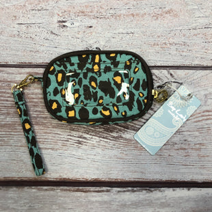 Primary Photo - BRAND: MUDPIE STYLE: WALLET COLOR: ANIMAL PRINT SIZE: MEDIUM OTHER INFO: TEAL/BROWN/YELLOW SKU: 178-178102-48413