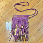 Primary Photo - BRAND:    CLOTHES MENTOR <BR>STYLE: HANDBAG <BR>COLOR: PURPLE <BR>SIZE: SMALL <BR>OTHER INFO: NEW! $28- CROSSBODY- TASSLES <BR>SKU: 178-17883-14274