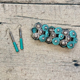 Primary Photo - STYLE: BRACELET COLOR: TURQUOISE SIZE: 02 PIECE SET OTHER INFO: W/ EARRINGS-SILVER/CRYSTAL TRIMS SKU: 178-178102-60744