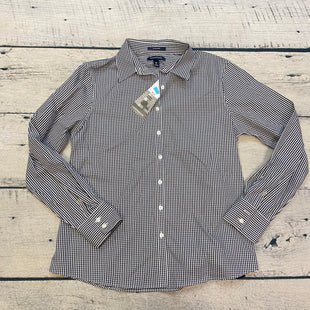 Primary Photo - BRAND: LANDS END STYLE: BLOUSE COLOR: GINGHAM SIZE: M OTHER INFO: NWT! BLACK/WHITE SKU: 178-178203-2724