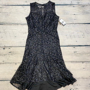 Primary Photo - BRAND: TAYLOR STYLE: DRESS LONG SLEEVELESS COLOR: BLACK SILVER SIZE: M OTHER INFO: NEW! SIZE 10-FLORAL LACE SKU: 178-17853-809