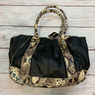 Primary Photo - BRAND: FORTUNA VALENTINO STYLE: HANDBAG COLOR: SNAKESKIN PRINT SIZE: LARGE OTHER INFO: FORTUNA VALENTINO - BLACK W/ CREAM/BLACK/BROWN TR SKU: 178-178102-64262