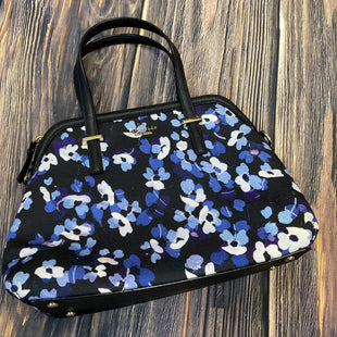 Primary Photo - BRAND: KATE SPADE STYLE: HANDBAG DESIGNER COLOR: FLORAL SIZE: MEDIUM OTHER INFO: BLACK W/ BLUE FLOWERS SKU: 178-17883-15202