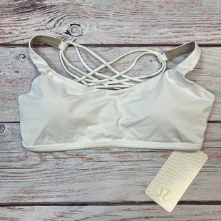 Primary Photo - BRAND: LULULEMON STYLE: BRA COLOR: WHITE SIZE: L OTHER INFO: NEW SKU: 178-17853-430