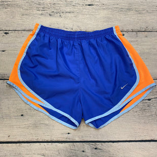 Primary Photo - BRAND: NIKE APPAREL STYLE: ATHLETIC SHORTS COLOR: BLUE SIZE: M OTHER INFO: ORANGE/LIGHT BLUE TRIMS SKU: 178-178102-57356